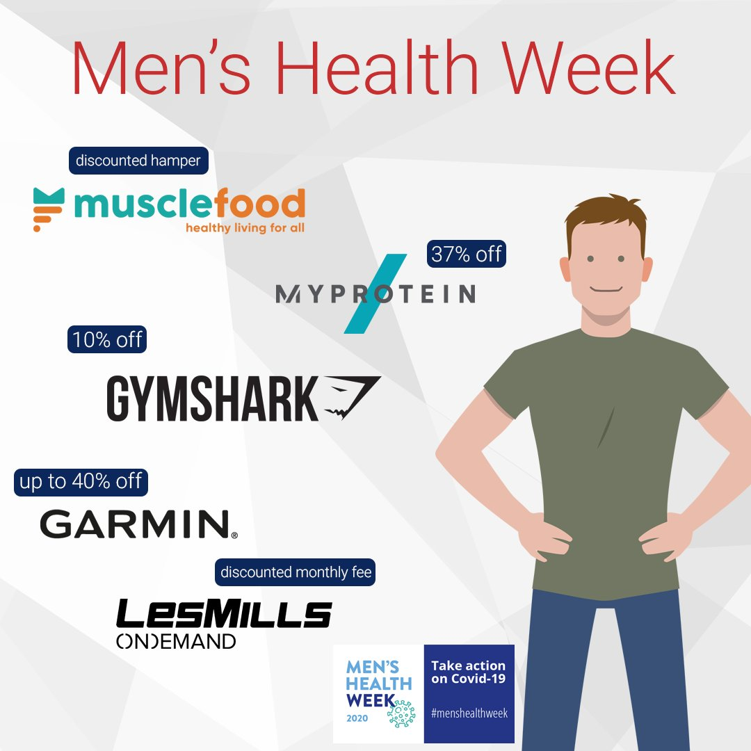 Whether you're bulking up, slimming down or just looking for a fun way to de-stress; this #MensHealthWeek, we've got you covered with amazing Health and Fitness offers to keep you in shape and at the top of your game!  Visit our website for more details: https://t.co/xGbaYn2TtB https://t.co/4p5GbiZXtC