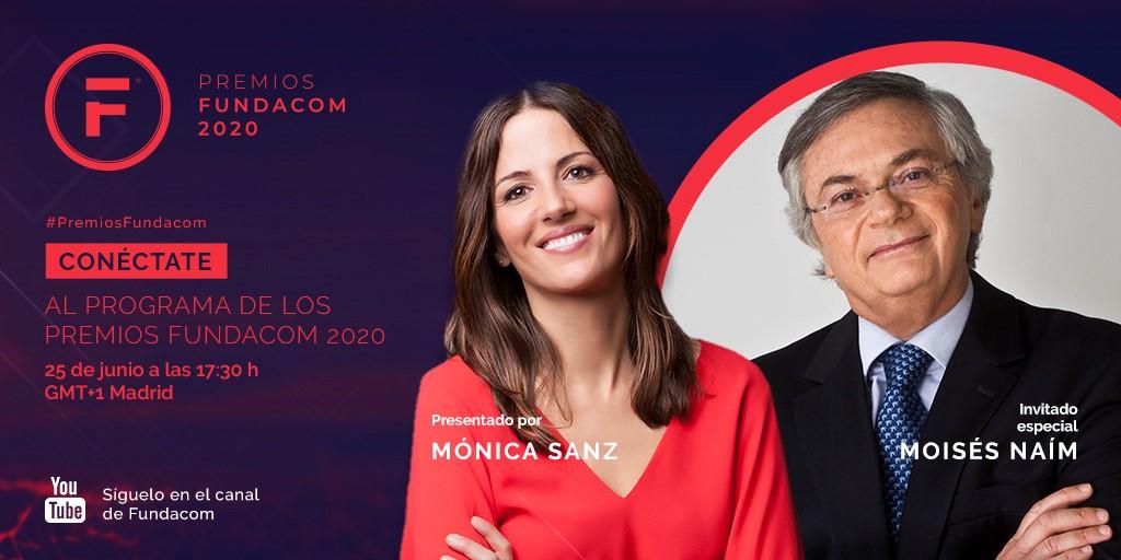 Los #PremiosFundacom se anunciarán el 25 de junio en un programa en #YouTube, conducido por @MonicaSLaliena, que entrevistará a @MoisesNaim sobre el mundo que nos deja la #COVID19.  ¡No faltes!   🔴https://t.co/sYw3jxed9L https://t.co/ebZtxpiyBl