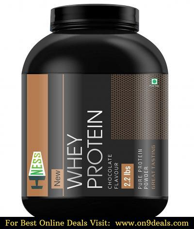 Hness 100% Pure Whey Energy Protein Supplement Powder with Vitamins & Minerals, 1 kg  (Chocolate)