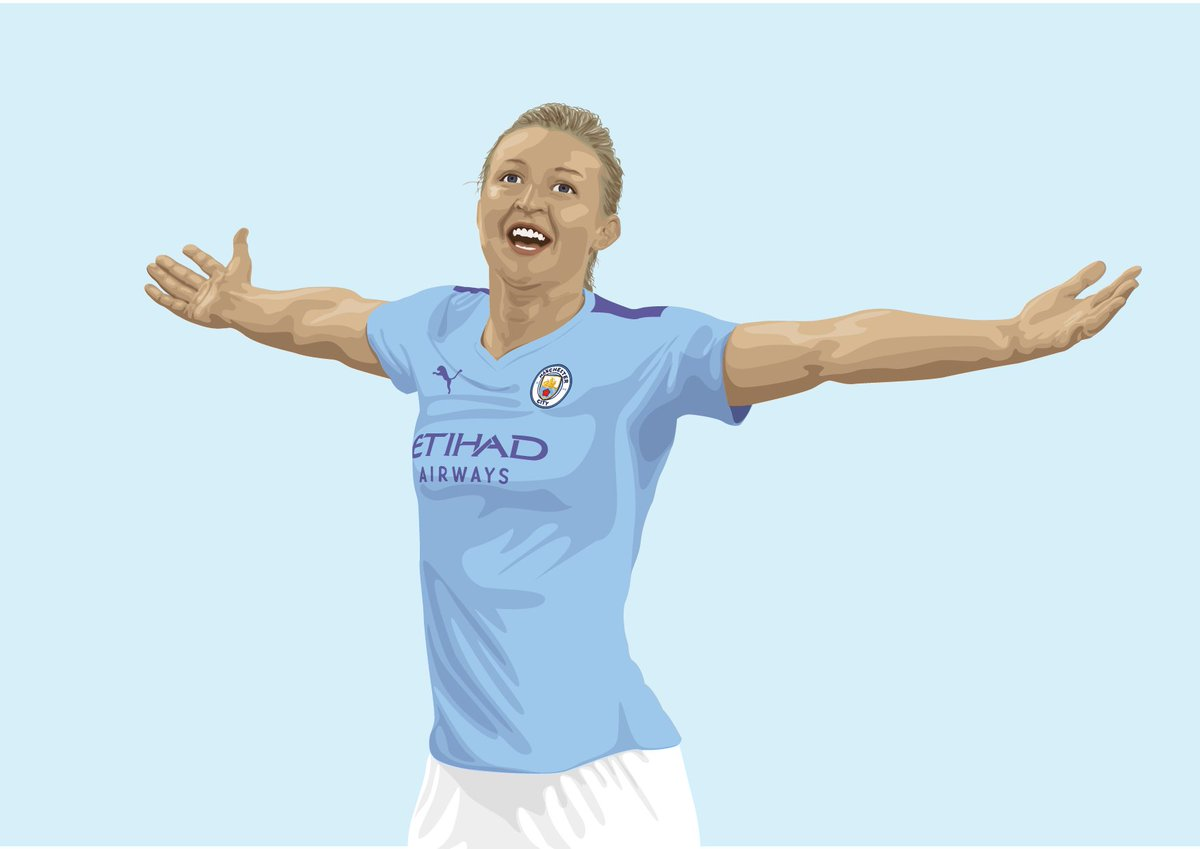 Our fantastically brilliant @ellsbells89 A commission for @MCWFC_OSC for the cover of their 2020 yearbook. Very proud to be asked once again to illustrate this. #mancitywomen https://t.co/SBW3IqpFlA