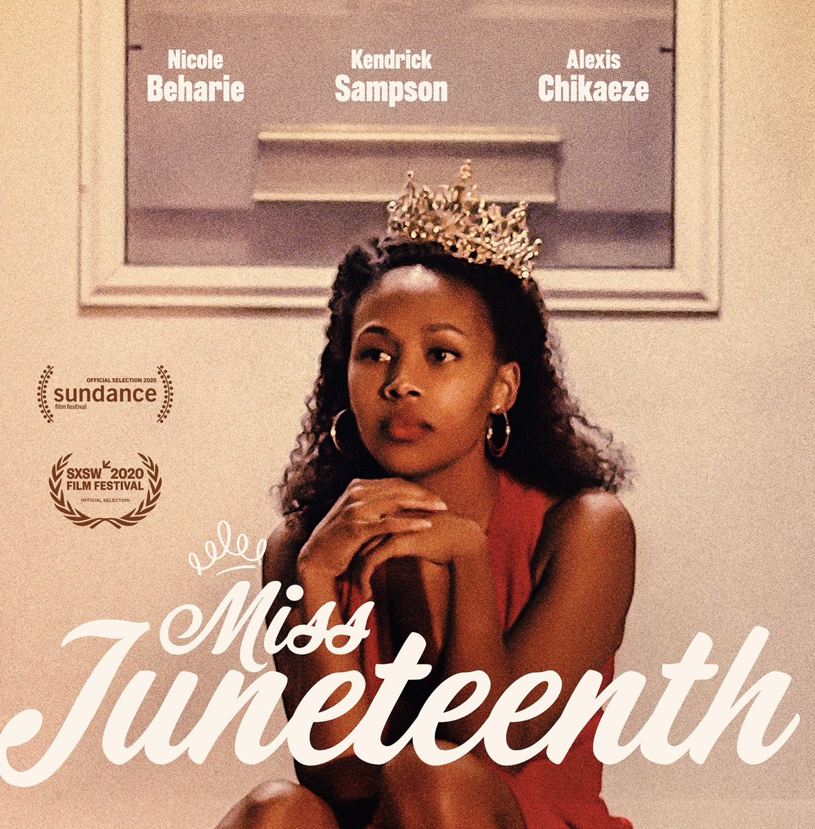 The serendipity of a Black woman writing and directing a debut film, starring a brilliant, underused Black actress, with a title and premise that the world is googling, and releasing it on this week's anniversary, with key art of a crowned Black woman  is honestly ancestral.