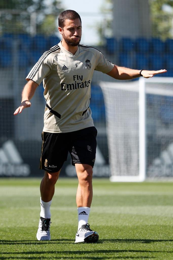 Flying through warm down today... good to be back #HalaMadrid @realmadrid