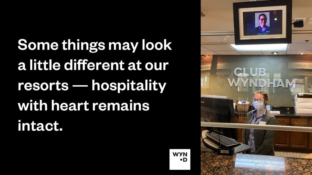 Our teams are making sure that a smile is the first thing owners and guests see when they check in at some of our resorts. This is hospitality with heart. #LifeAtWYND https://t.co/6p27RG9phl