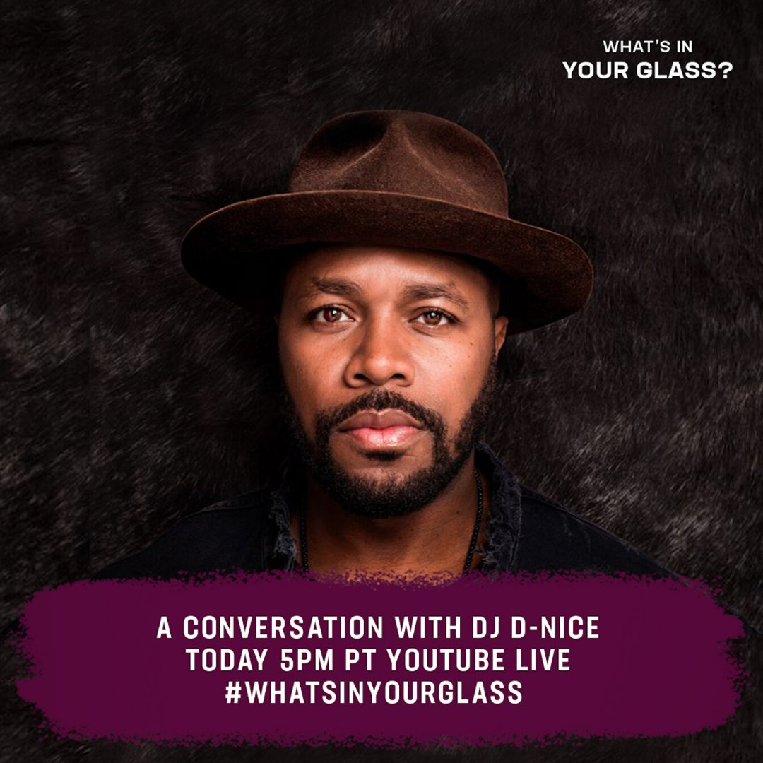 Raising a glass with everybodys favorite @djdnice today at 5pm PT on my YouTube Live. #WhatsInYourGlass bit.ly/MeloDNice