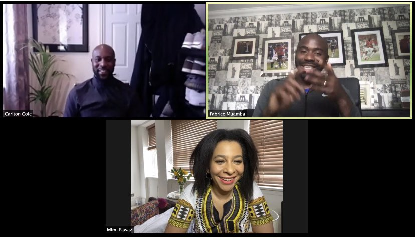 Really enjoyed my @BBCAfrica Facebook live chat with Carlton Cole @CarltonCole1 & Fabrice Muamba @fmuamba6~spoke about   #PremierLeagueIsBack  #BlackLivesMatter  #blackcoaches   Will post excerpts tomorrow https://t.co/iaclppiNBt