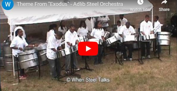 """Pan goes to Hollywood. Here is an Andre White arrangement of the music theme from the movie """"Exodus"""" - as performed by ADLIB Steel Orchestra   https://www. panonthenet.com/av-recs/2009/e xodus-adlib-2009.htm  …   #steelband #MusicExcellence <br>http://pic.twitter.com/03UqraiDBD"""
