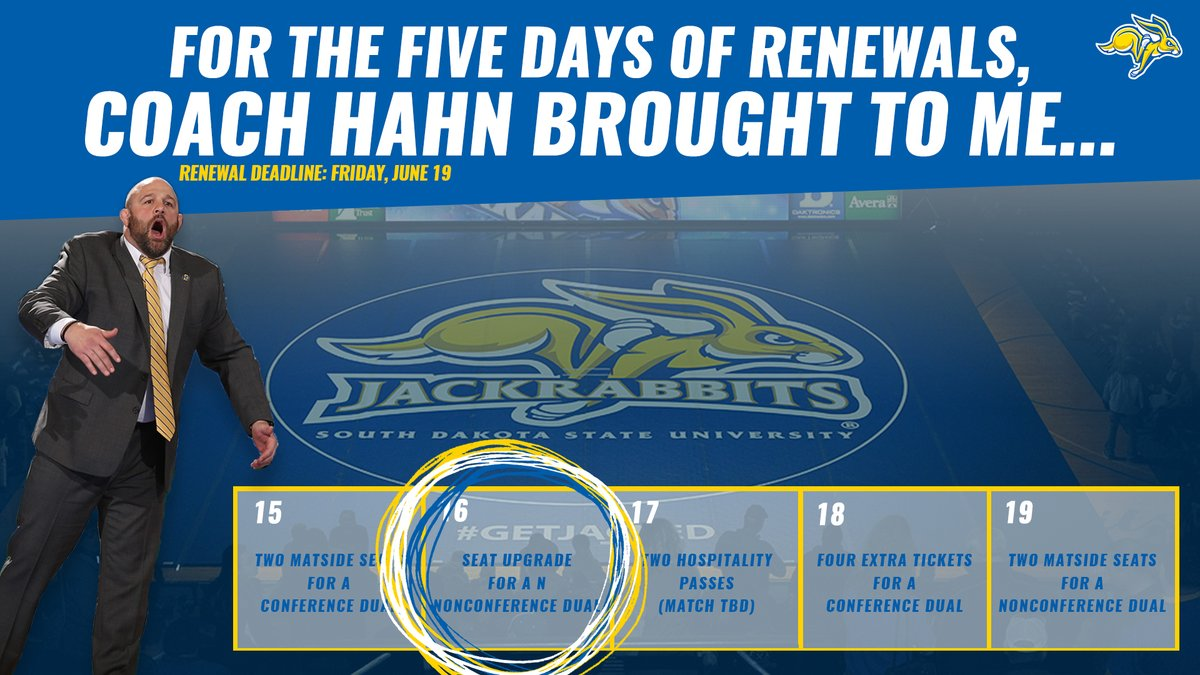 FOUR DAYS until the @GoJacksWrestle season ticket deadline!  PRIZE 2️⃣: Congratulations to John Van Dyke!   🎟️ » https://t.co/t90fuxmwu4 https://t.co/cQnl5dEyKj