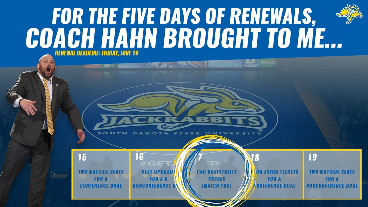 THREE DAYS until the @GoJacksWrestle season ticket deadline!  PRIZE 3️⃣: Congratulations to Lynn Kindopp!   🎟️ » https://t.co/t90fuxmwu4 https://t.co/su8vPPSbcJ