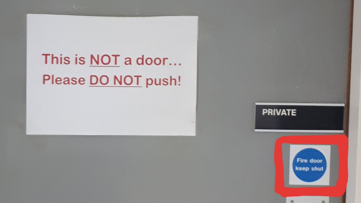 Ive found Schrödingers door! Both a fire door and NOT a door at the same time - until someone tries to open it and we find out the answer... #Philosophy #QuantumPhysics