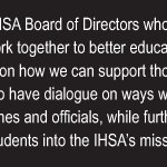 Image for the Tweet beginning: #IHSA Board of Directors joint