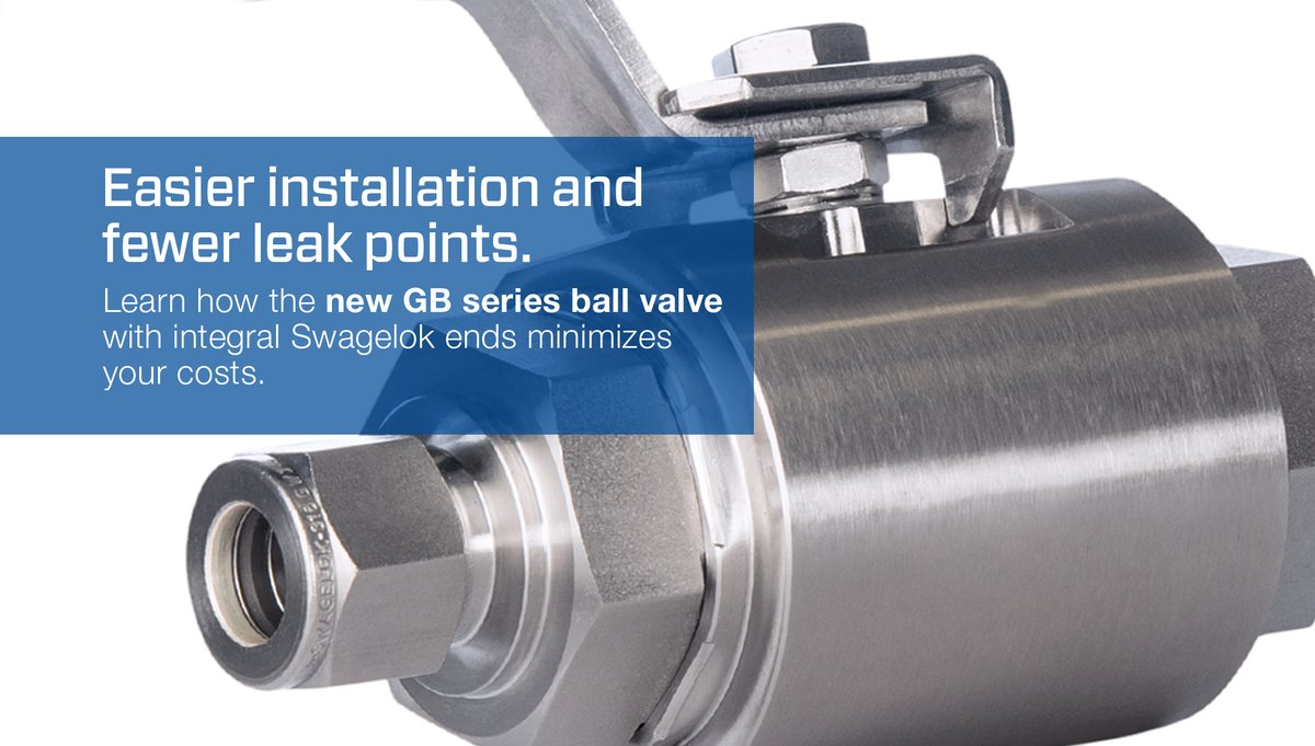 NEW PRODUCT! Introducing the GB Series Ball Valve from Swagelok: A full-flow valve for your toughest environments. https://t.co/OiuJSMGjid #swagelok https://t.co/NW7xKGp9ja