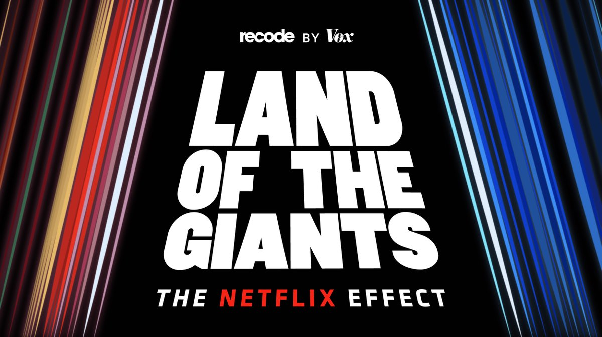 In Land of the Giants: The Netflix Effect, hosts @pkafka and @ranimolla examine how Netflix got where it is today and whether or not it can maintain its streaming supremacy.  The first episode airs on Tuesday, June 23. Listen to the trailer now: https://t.co/BvpwpnkyvW https://t.co/ISq851laNk