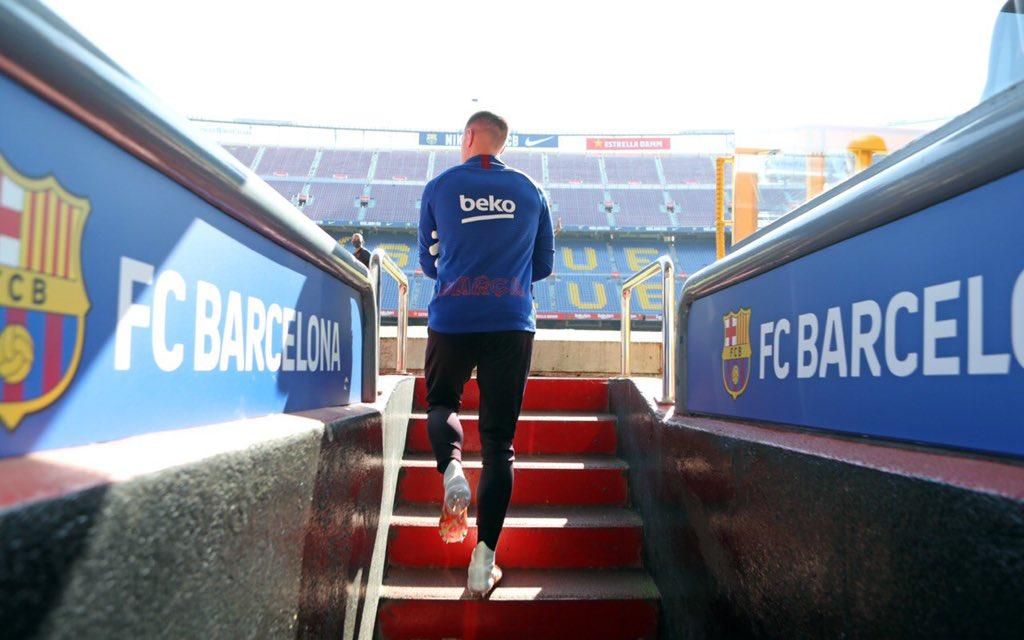 Home Sweet Home. 😍🏟 Finally back here tomorrow. Força Barça! https://t.co/LWYLjFBpFj