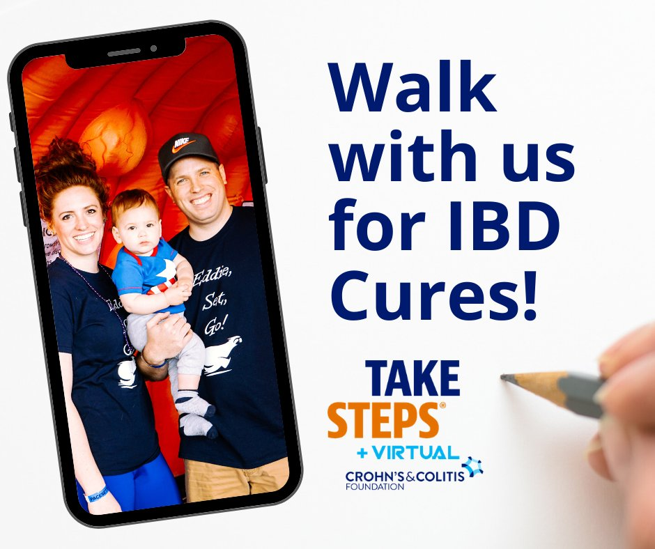 3.1 million Americans are affected by Crohn's disease & ulcerative colitis, and you can make a difference! Join the Take Steps family and walk with us virtually this June! Learn more on how to get in on the fun and create your team here: cctakesteps.org/TwinCities2020