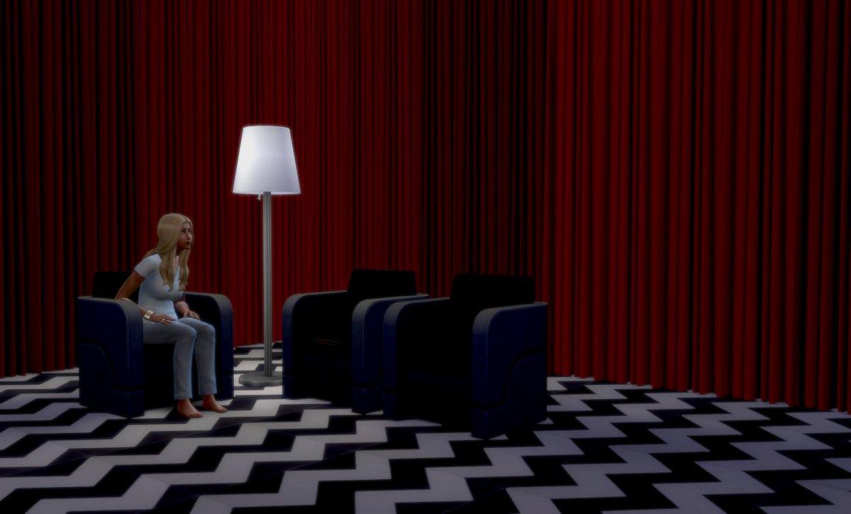 Waiting... #BlackLodge #TwinPeaks #Sims4 🦉