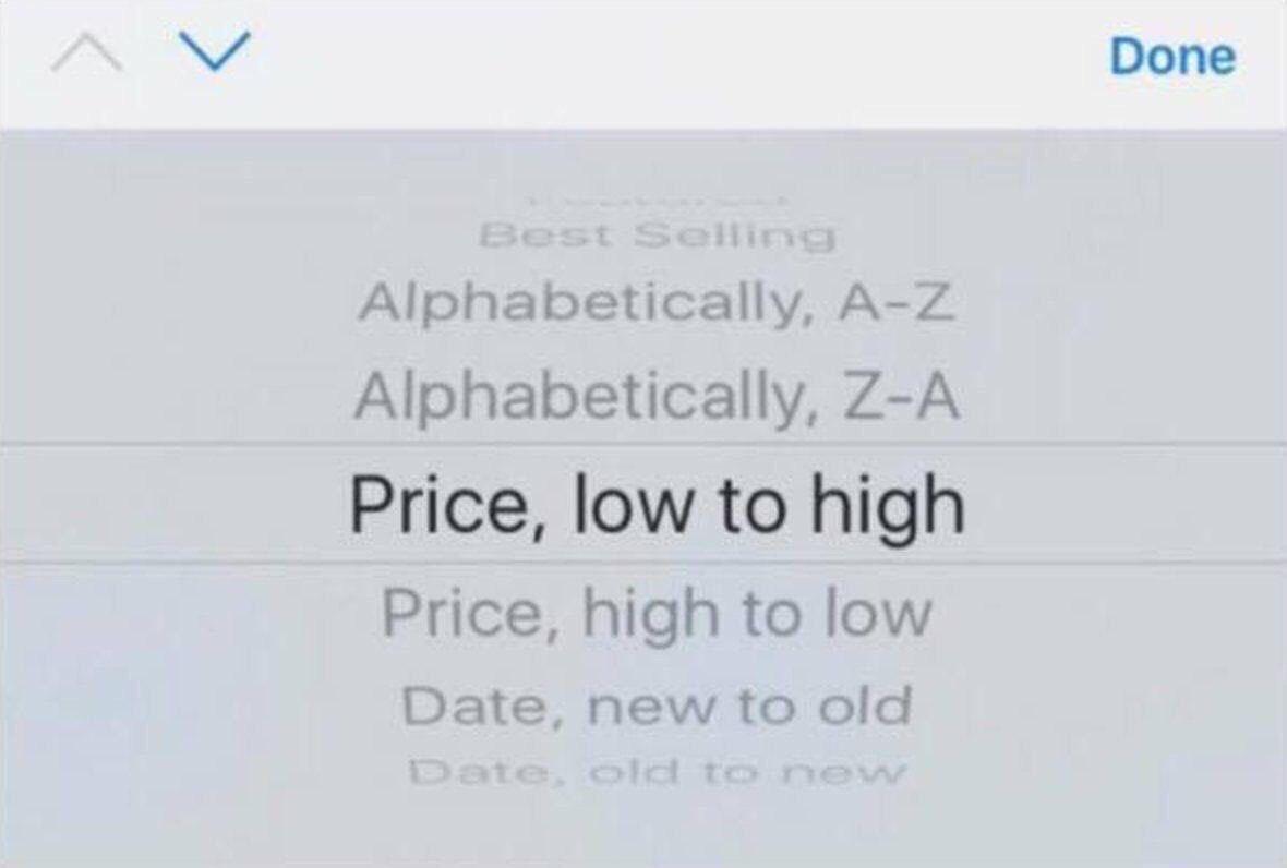 How do you online shop? Me: