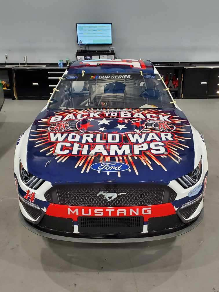 How 🔥 is our 4th of July @TalladegaSuperS scheme with @ClintBowyer https://t.co/R1e7Dobua2