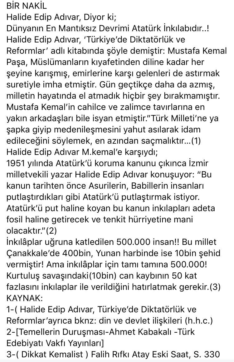 @Charming3587 @Denizimsimavi2 İngiliz'lerim Osmanlı padişahımıza yaptıramadıklarını Mustafa Kemal Paşa'ya yaptırdılar.Sonra bir ohh çektiler. Bizim oğlumuz diye demeç geçtiler elin yahudisi.#MeclisteTeroeristİstemiyoruz #istanbulFethi https://t.co/SgfdOuRSON