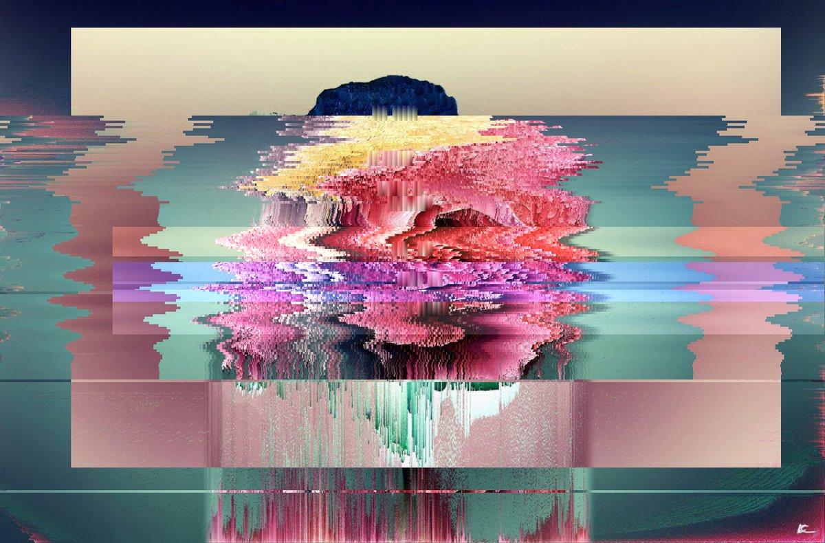 😅🔕 glitchart glitch pixelsort glitchartwork digitalart art artoftheday bot Origin img by @ECzekner