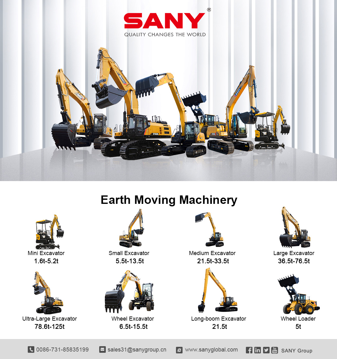 Quality strengthens quantity. SANY offers you a variety of professional solutions more than you expect!  Part 1 #SanyProduct https://t.co/fHEYPWF2FQ https://t.co/WTDKWvZVWo