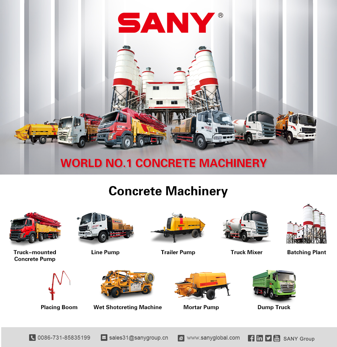 Quality strengthens quantity. SANY offers you a variety of professional solutions more than you expect!  Part 2 #SanyProduct https://t.co/fHEYPWF2FQ https://t.co/a2FHijWobO