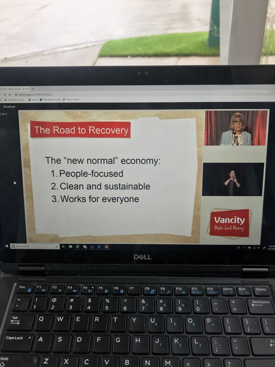 Participating in @Vancity agm. Are you a member? Vote and direct your money to support the issues you care about. #climatecrisis #decentwork #creditunion @CCUA_ACCF https://t.co/HGwplOK05B