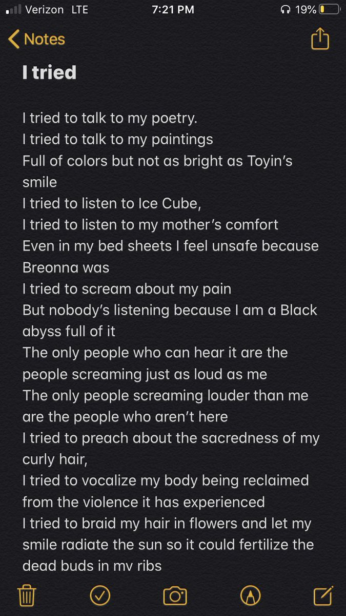 Bella On Twitter I Tried A Poem Written By Me This Is For Oluwatoyin Salau Breonna Taylor Rayshard Brooks Everyone I Hope This Resonates In Someone Out There But I