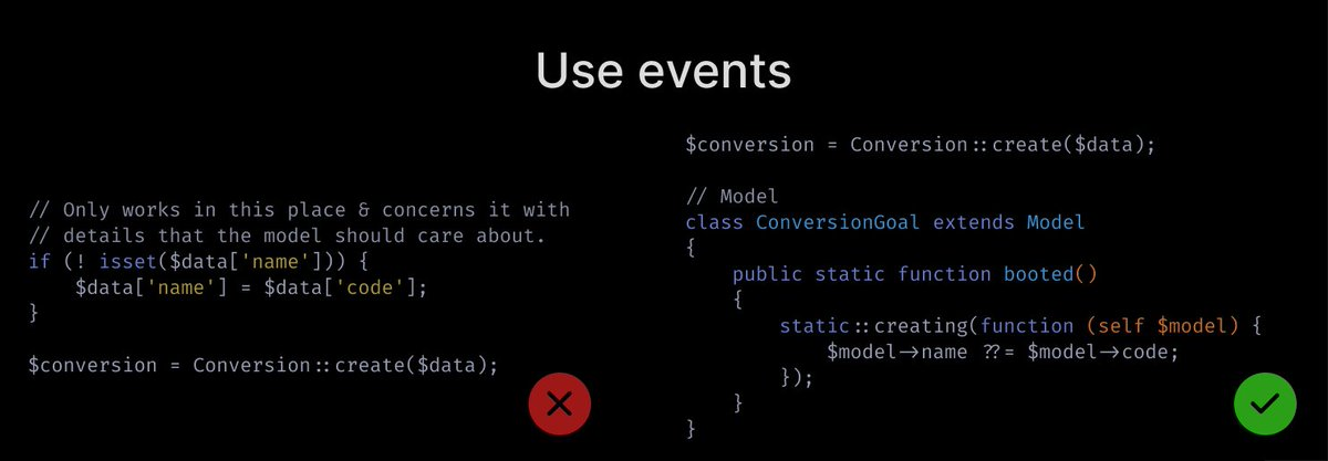 Use events
