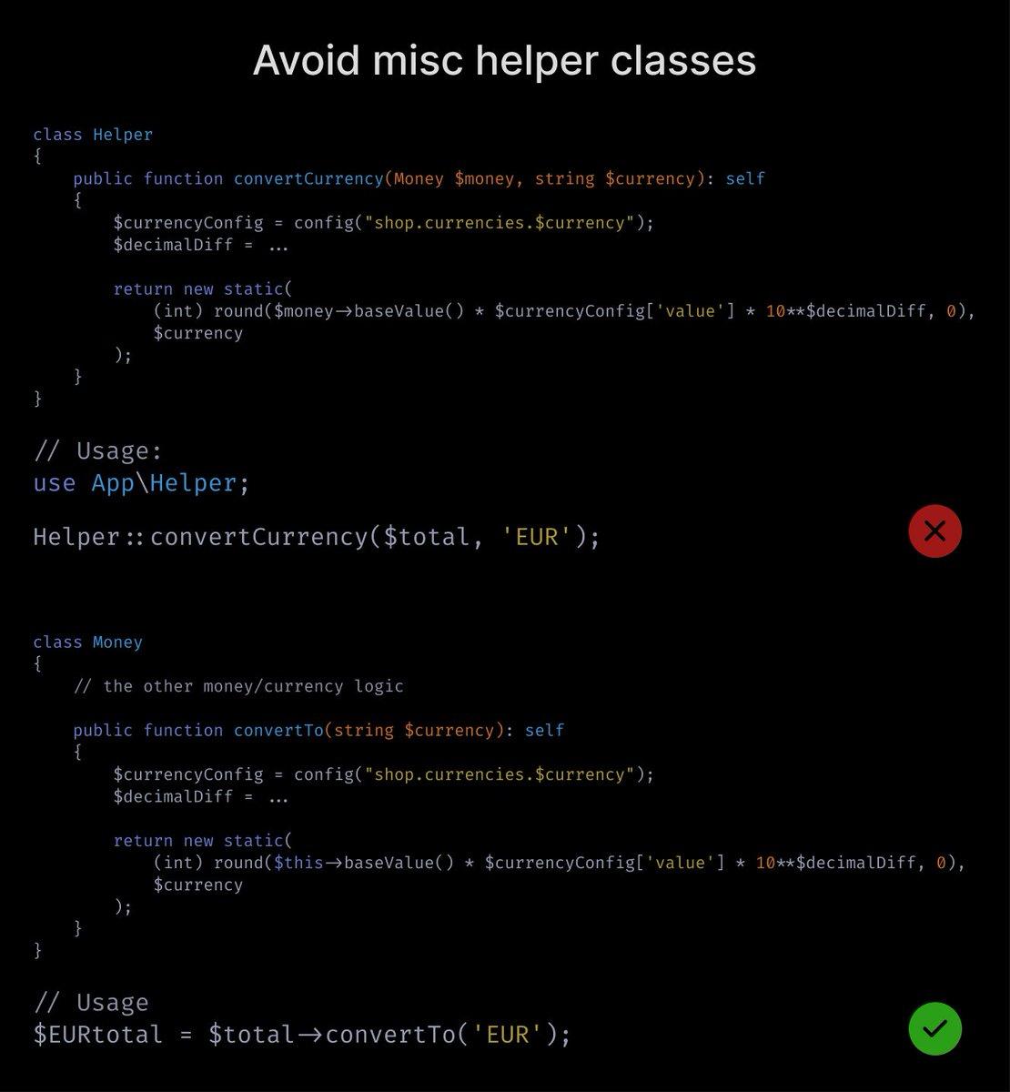 Avoid helper *classes*