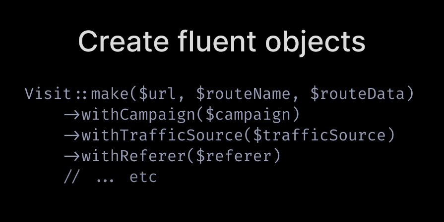Create fluent objects