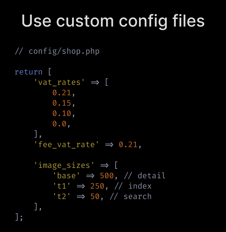 Use custom config files