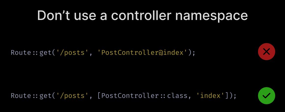 Don't use a controller namespace