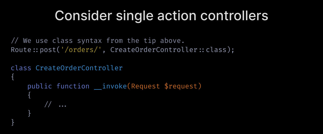 Consider single-action controllers