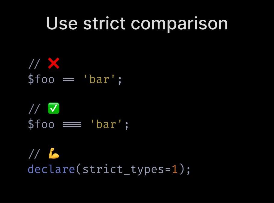 Use strict comparison
