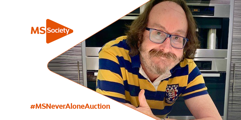 Last chance for a personal cookery lesson with the amazing Dave Myers from the @HairyBikers !🧑🍳🍽️  Our #MSNeverAloneAuction is running until Weds 17 June, 10pm – place your bid here: https://t.co/IaJzRtyGTn  Please RT https://t.co/XzVOAdko9b