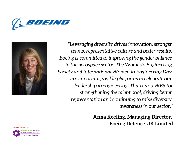 Thanks to @BoeingUK for officially sponsoring #INWED20 & helping to #ShapeTheWorld ! https://t.co/FhyDIdHvFh