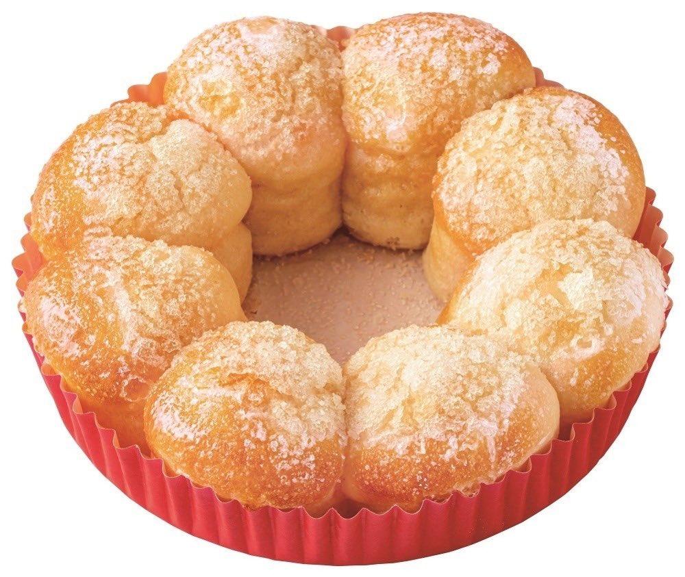 ミスタードーナツから、ポン・デ・リングの形と食感をパンで楽しむ新シリーズ「ポン・デ・ちぎりパン」が新発売されます。