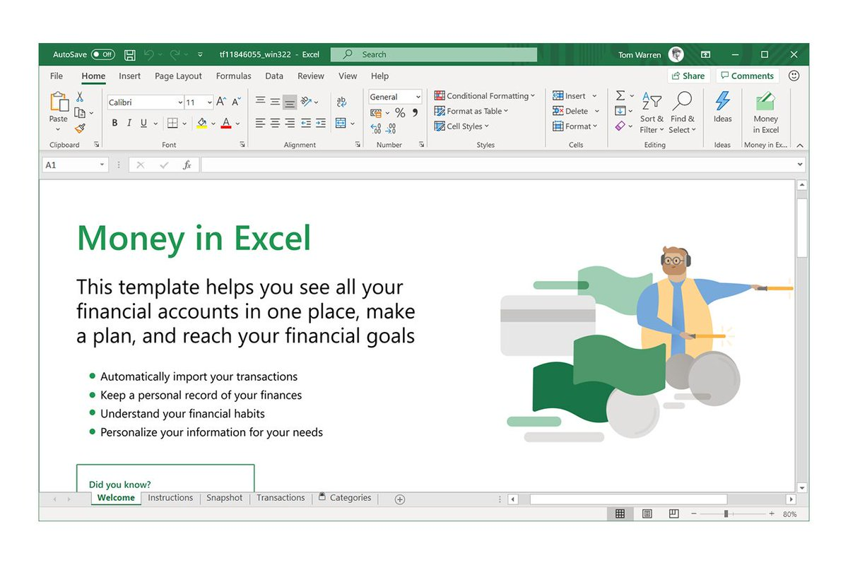 Microsoft can now import your banking activity into Excel