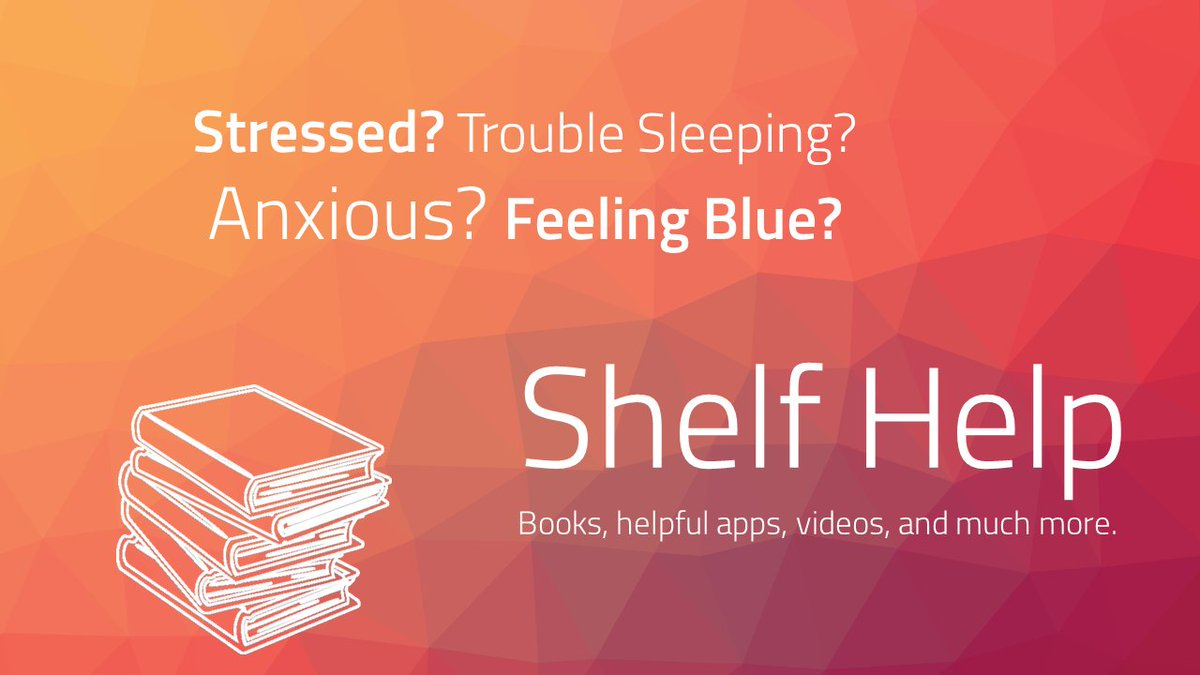 A gentle reminder that Shelf Help contains resources chosen by other students & health professionals to help you overcome experiences, thoughts & feelings that can be stressful or uncomfortable. For info, advice & personal stories go to: https://t.co/UIt7TBFYya @EdinburghNapier https://t.co/w4OShkIo1u