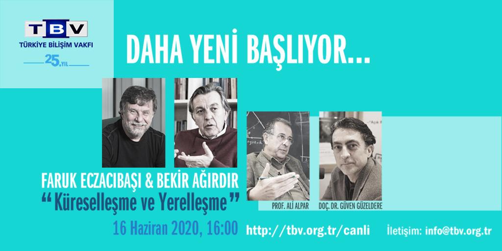 """Vakfımızın 25. Yıl etkinlikleri bugün başlıyor!   Faruk Eczacıbaşı ve Bekir Ağırdır'ın ev sahipliğinde, Prof. Ali Alpar ve Doç. Dr. Güven Güzeldere'nin konuk olacağı, """"Küreselleşme ve Yerelleşme"""" etkinliği bugün 16:00'da. Canlı yayın için: https://t.co/6ldRsqGGRw https://t.co/lciOJd9Op6"""