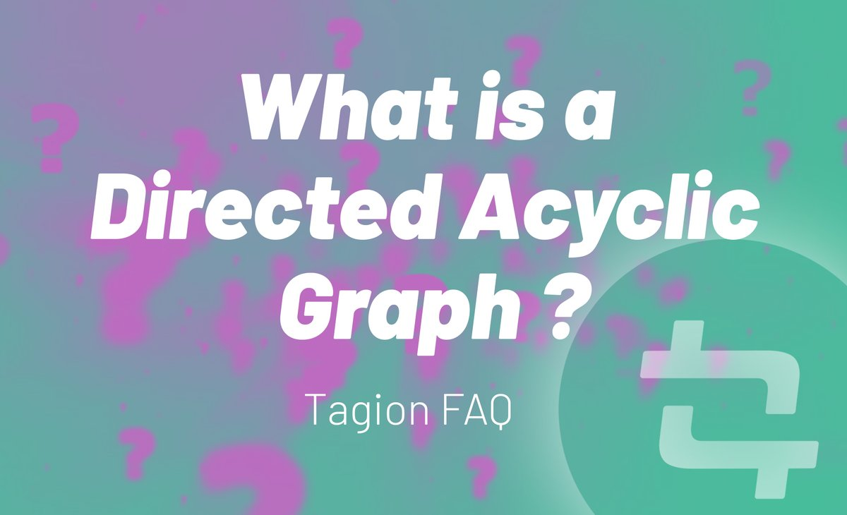 #Tagion FAQ #6   What is a Directed Acyclic Graph? The Directed Acyclic Graph (DAG) DLT is a solution that offers the benefits of blockchain with better performance.  Dive deeper into DAGS here: https://t.co/zqNFxqtYM7  #faq #altcoin #crypto #altcoins #telegramchat #forum https://t.co/OSIzdqvz8D