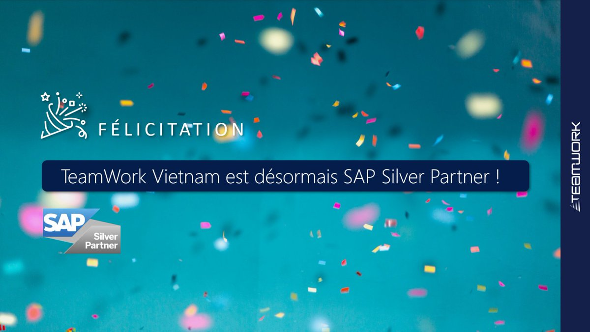 Image for the Tweet beginning: 🎉 TeamWork Vietnam est devenu,