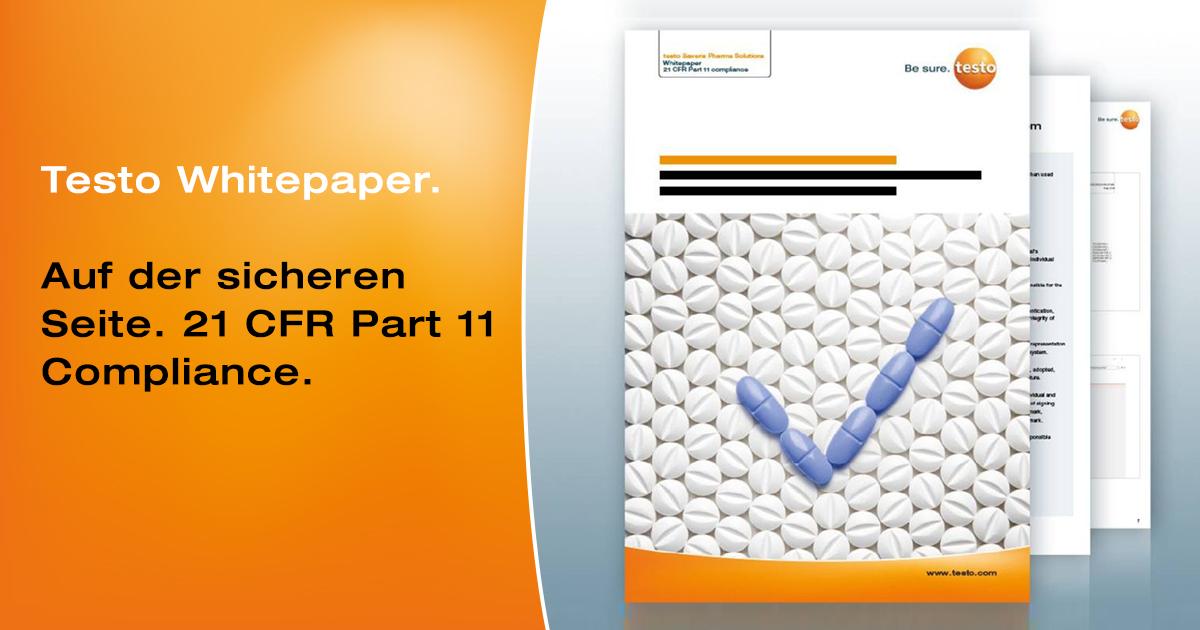"""💊💧🌡💊Kostenloses #Whitepaper """"Auf der sicheren Seite: Wie 21 CFR Part 11 mit Hilfe der digitalen Komplettlösungen von #Testo eingehalten werden kann.""""  Jetzt anfordern ▶ https://t.co/4KHrfx7c4r  #cfrpart11 #pharmacompliance https://t.co/a7xRxZBAsF"""