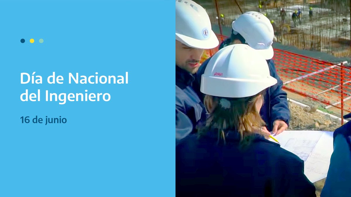 ¡Feliz día a las ingenieras e ingenieros!  Felicitamos a todas las ingenieras e ingenieros que son parte de la CNEA y extendemos nuestro saludo a los futuros profesionales que se están formando en nuestros institutos.  #DiaDelIngeniero #SomosCNEA https://t.co/SOSMOp6y5O