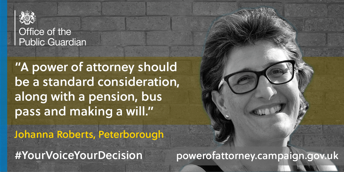 A lasting power of attorney is something everyone should consider when future planning. It protects your health and care or money matters, and once it's done it lasts a lifetime whether you need it or not #YourVoiceYourDecision  To apply, go online 💻  https://t.co/LQrwJeU2Bm https://t.co/Ixtf2jFR94