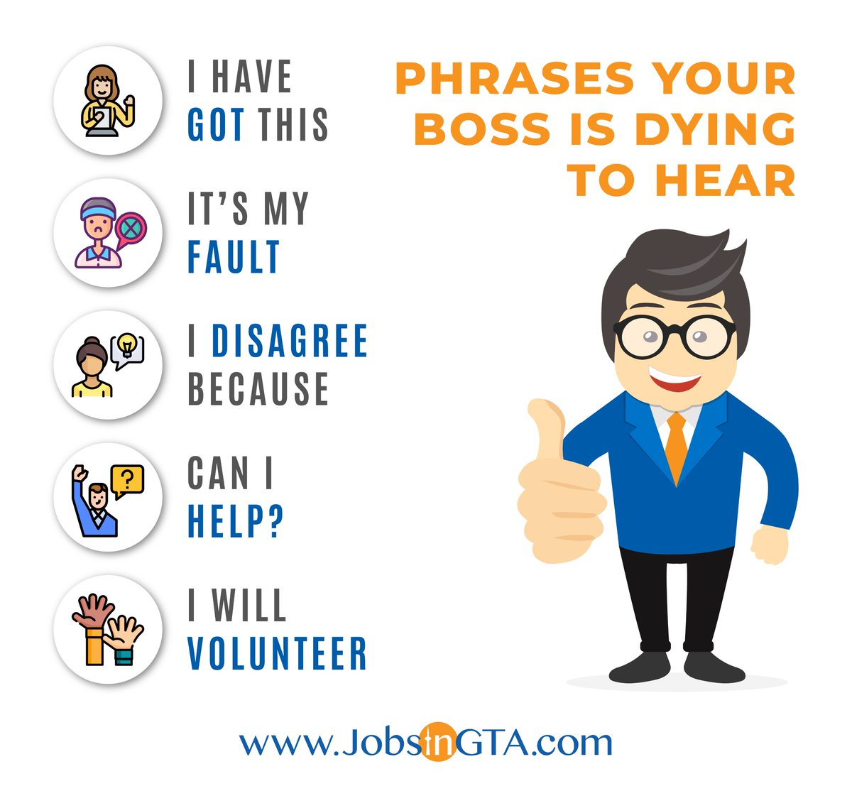 Your boss shouldn't have to ask for everything get ahead of the game and impress your boss by using these key phrases at work. Signup @ https://t.co/0DE1VZ2HWb & get hired from home  #JobsInGTA #SearchLocal #RemoteHiring #FreeSignup #GTA #Jobs #TuesdayMotivation https://t.co/iO4k3rmMrc