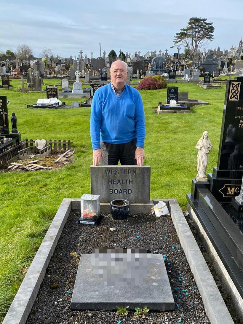 Gerry pictured at the grave of his younger brother who died in Tuam Mother & Baby Home. #Liveline @joeliveline
