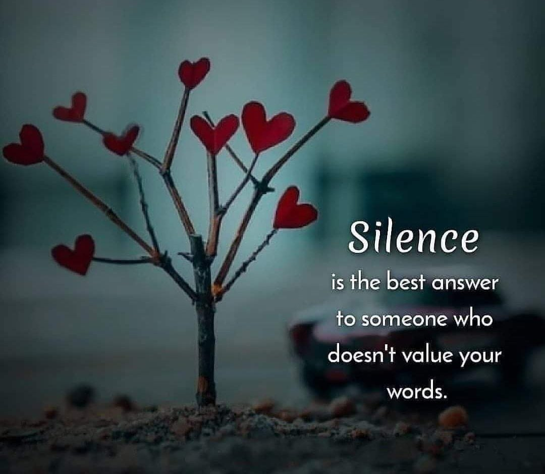 Inspiring Life Quotes On Twitter Silence Is Best Answer