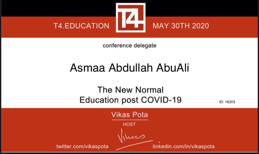 Thanks @T4EduC a great initiative