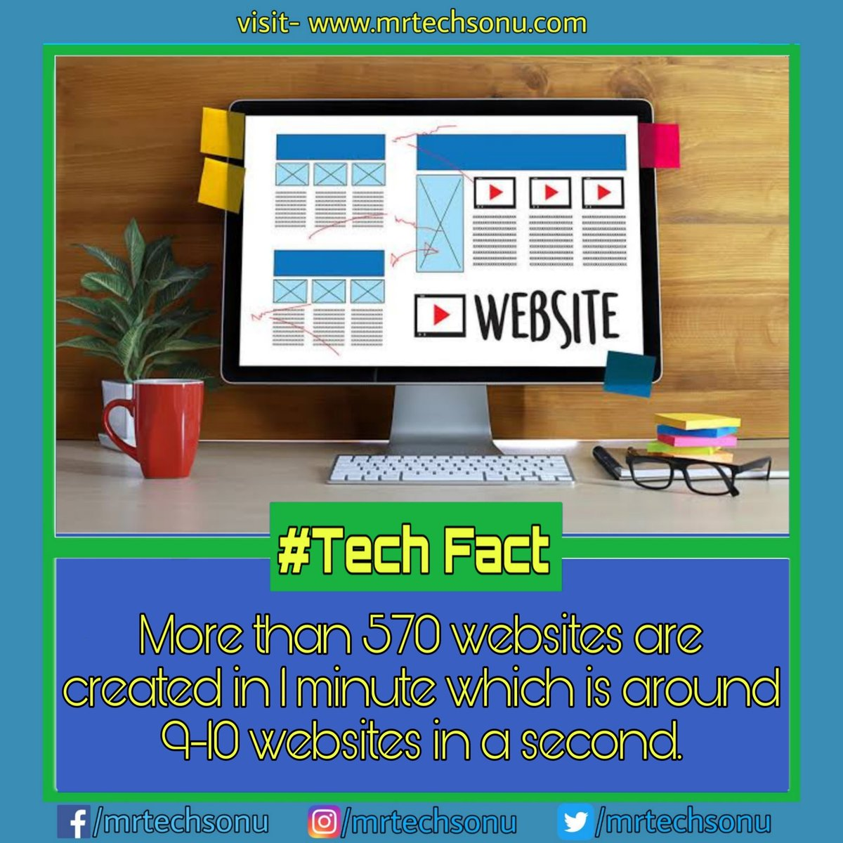 Visit- http://mrtechsonu.com for more stuffs like this . It means while reading the post, more than 50 websites have been created . #technologyrocks#technologyr#technologylover#technologytrends#instatechnology#remotecontrol#primitivetechnology#technews#techvideospic.twitter.com/KVPgKzhEC5